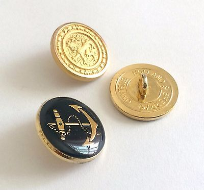 9 CT Gold Anchor Holland & Sherry Blue Blazer Buttons Gift for Men