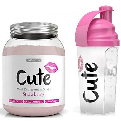 Cute Woman Meal Replacement 500g Diet Protein Slimming Shake + Cute Shaker
