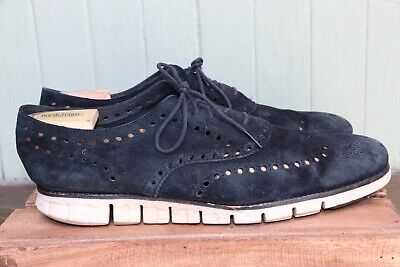 7cd85155473 Cole Haan ZeroGrand OS Black Suede Leather Casual Wingtip Dress Style Shoe  SZ 13