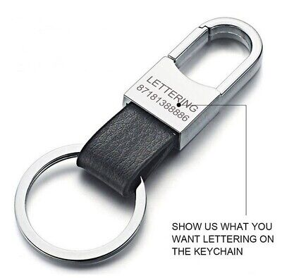 Custom Lettering Keychain Keyring Personalized Leather Car Vehicle Key tag