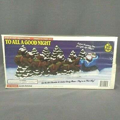 Accents Unlimited Wee Crafts TO ALL A GOOD NIGHT #21523 Santa Reindeer Christmas