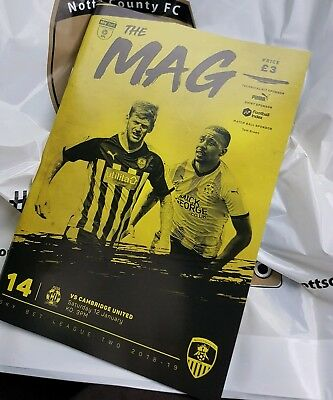 NOTTS COUNTY v CAMBRIDGE UNITED 12th JANUARY 2019~COMPLETE SELL OUT~FREE POSTAGE