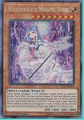 INCH-EN019 WITCHCRAFTER MADAME VERRE – Secret Rare, 1ST Edition IN STOCK!