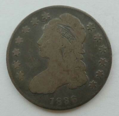 1836 Silver Capped Bust, Lettered Edge Half Dollar. Solid Good. AUCTION!