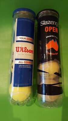 Wilson Tour Competition All Court Tennis Balls 4 pack New Plus 4 Others Used