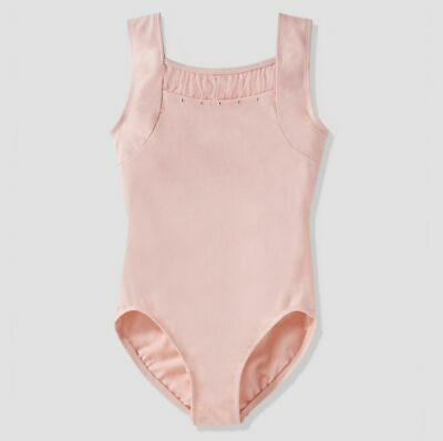 Danskin Freestyle Baby Girls Bodysuit Leopards Ballet Pink - Size XS - 4/5