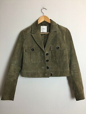 Mango Genuine Leather Jacket Suede Coat Biker Top 85 08 Picclick