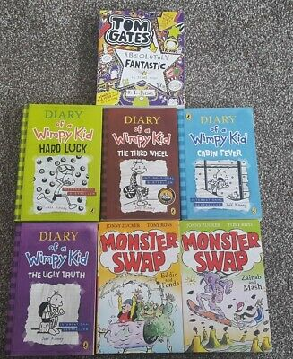 Diary of A Wimpy Kid Tom Gates Monster Swap Collection 7 Book Bundle RRP £45+