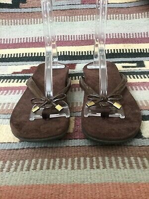 38ecd01bfd23 VIONIC Bella Brown FLIP FLOP Thong Sandals Shoes Slip-On Women s Sz 8  Orthaheel