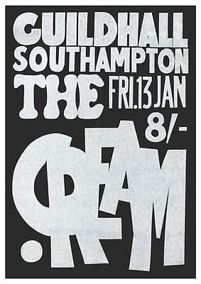 Cream * POSTER * Live in LONDON Guildhall Southampton Eric Clapton POWER TRIO