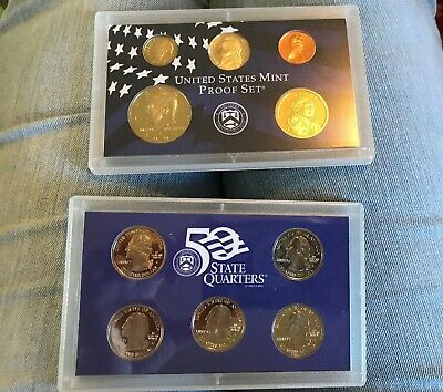 Uncirculated 2001 S United States Mint Proof Coin Set w/Box EB301