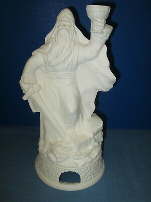"Ceramic Bisque ""WIZARD"" INCENSE SMOKER Set (2) Pieces Ready To Paint"