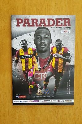 2017/18 BRADFORD CITY v SHREWSBURY TOWN  -  NEW & UNOPENED
