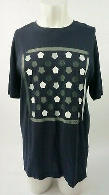 Z Zegna Spotted Navy Men's T Shirt Top Size L