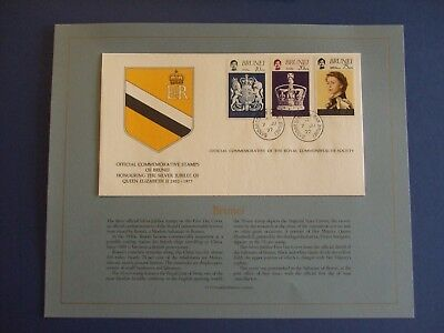 3 Royal Commonwealth Society 1977 Silver Jubilee Covers -Brunei,barbados & Bangl