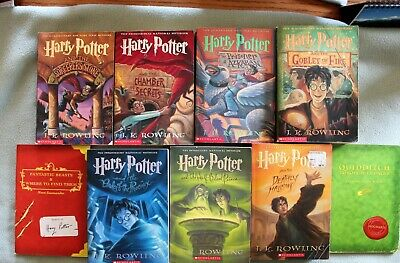 All 7 Harry Potter books PLUS Fantastic Beasts and Quidditch through the Ages