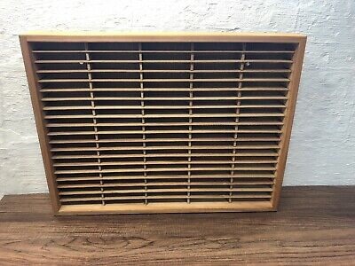 NAPA VALLEY Wooden Cassette Holder Storage Up To 100 Mountable