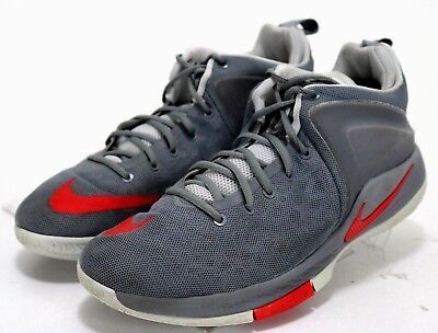 new style 09cbe a5791 NIKE LEBRON ZOOM Witness $120 Men's Basketball Shoes Size 13 Gray Red
