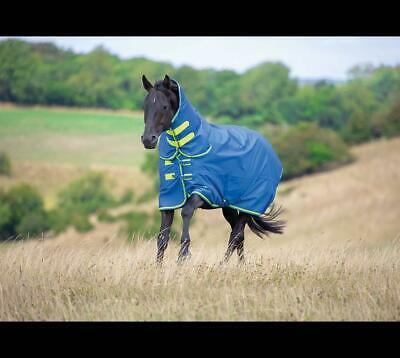 Shires Tempest Original 50g Combo Full Neck Horse Turnout Rug in Blue