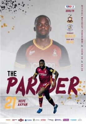 Bradford City v Luton Town 2018/19 brand new football programme