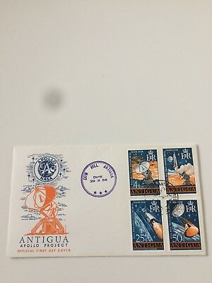 Antigua Stamps 1968 FDC NASA Tracking Station