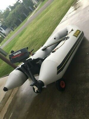 Inflatable Dinghy Tender and Outboard Motor