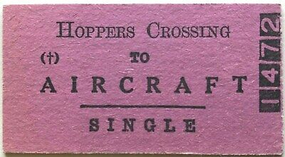 VR Ticket - HOPPERS CROSSING to AIRCRAFT - Single