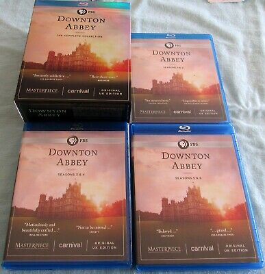 DOWNTON ABBEY - THE COMPLETE COLLECTION; Blu-Ray; $3 Shipping on Unlimited DVD's