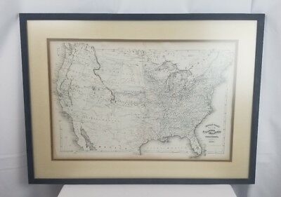19th Century Walling And Grays Map Of The United States 1871