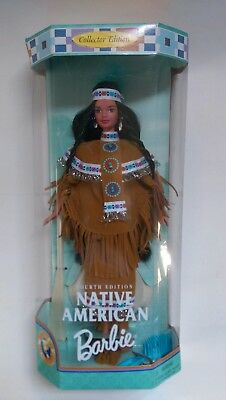 Native American Barbie Doll Dolls of the World 18558 CE 1997 Mattel 4th Edition