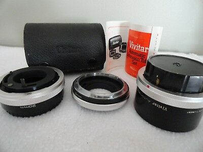 Vivitar At-4 Automatic Extension Tube Set
