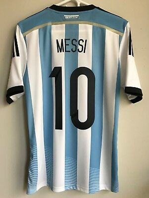 17f2d4760 New Adidas 2014 World Cup Argentina Lionel Messi Home Jersey S shirt  barcelona
