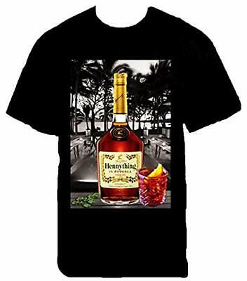 58e37988 Hennything is Possible Bottle Mens Heavyweight T-Shirt Printed On Shaka Wear  Tee