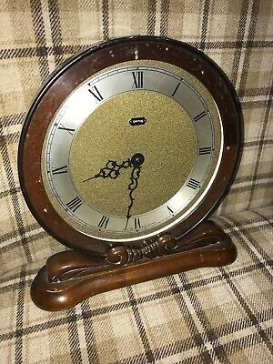 Unusual 1950s Vintage Smiths Mantel Clock