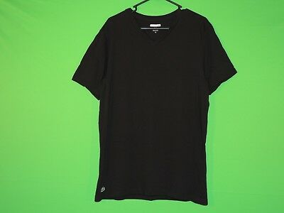 7283b47bb Lacoste Mens Size XL Extra Large Slim Fit Underwear Black V Neck T Shirt