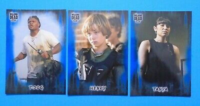 Topps The Walking Dead Hunters & Hunted Blue Parallel /50 Lot Henry Tanya T-Dog