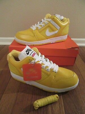 b54ed590 SUPREME x NIKE SB Air Force 2 LOW Size 11.5 Yellow Varsity Maize AA0871 717  NIB