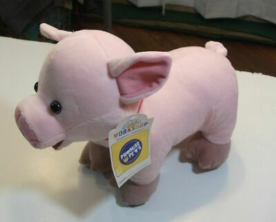 "BUILD A BEAR NWT Promise Pets Online Exclusive plush Micro PIG 13"" pink stuffd"