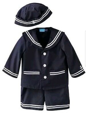 Good Lad baby boys Navy Blue & White Nautical sailor 3pc. Jacket size 18 month