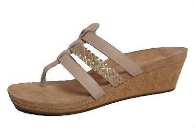 d5d2951f53 UGG WOMENS MADDIE Flip Flop Leather Suede Cork Open Toed Sandals ...