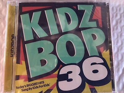 "KIDZ BOP 36 TODAYS BIGGEST HITS SUNG BY KIDS FOR KIDS FAST ""FREE"" 1st CLASS SHIP"