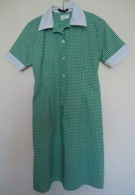 School Dress Green Checked Size 12 Uniform Green Gingham Knowledge Time