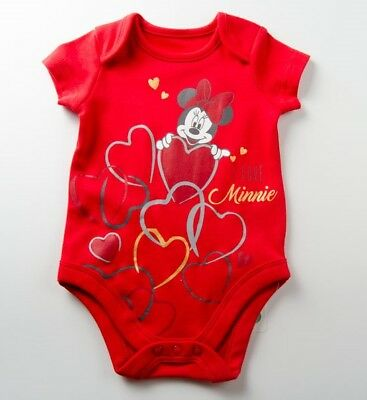 Baby Girls~Minnie Mouse Red Romper~New~Size 6-9 months