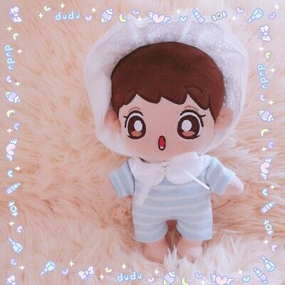 KPOP SHINEE EXO Chanyeol NCT BTS Plush Doll's Clothes Baby Coverall Cap【no doll】