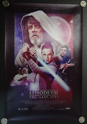 Star Wars The Last Jedi FABRIC Poster Banner Rey Lightsaber Luke Skywalker Hood