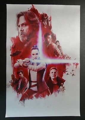 Star Wars The Last Jedi FABRIC Poster Banner Rey Luke and Leia No Text Version