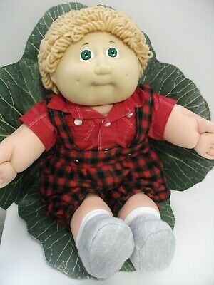 Coleco Cabbage Patch Boy Doll 1985 Fawn Hair, Green Eyes, Two Dimples.