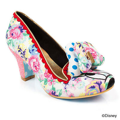 DISNEY IRREGULAR CHOICE CLASSIC MINNIE Heel Pumps Shoes 37