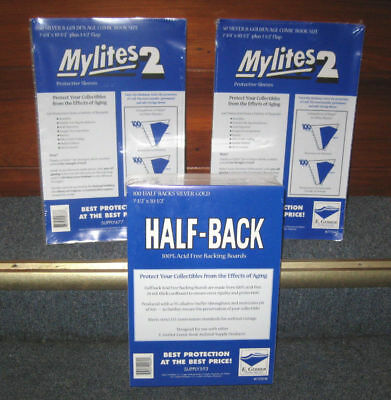 100 OF EACH GERBER HALF-BACK & MYLITES 2 SILVER & GOLDEN AGE Mylar - 750HB/775M2