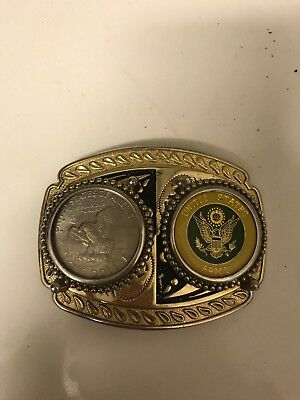 Us Army Vintage Dollar Coin Emblem Belt Buckle